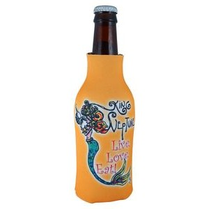 FoamZone Zippered Bottle Cooler with Full Color Sublimation by RealColor360